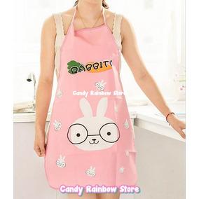 Delantal Mandil Conejo Molde Kawaii Cocina Panda Hello Kitty