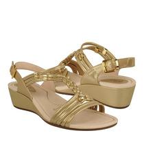 Flexi Zapatos Dama Cuñas 24711 Simipiel Oro
