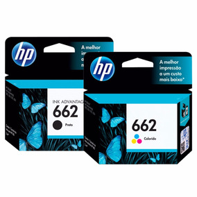 Kit Cartuchos Originais Hp 662 Preto + Color 2516 3516 1516