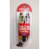 Combo Auriculares Maxell Dual Color Earbuds 15 Unidades