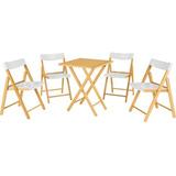 Conj Potenza 1 Mesa + 4 Cadeiras Madeira/plástico Tramontina