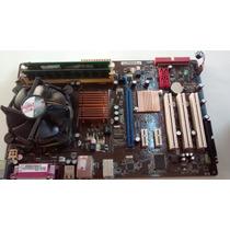Kit Placa Asus P5ql-se Lga Ddr2 775+ Core 2 Duo E7400+ 4gb