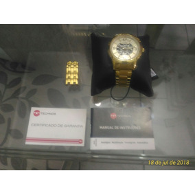 69647394c01 Relogio Technos Banhado A Ouro 21 Rubis Original