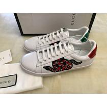 Tenis Nuevo Gucci Ace Enbroidered Talla 37