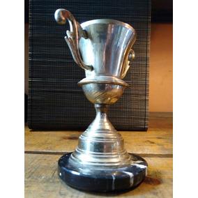 Trofeo Copa Antiguo Cincuentas Latón Sobre Mármol¿