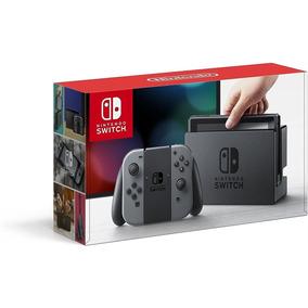 Nintendo Switch Cinza 32gb + Jogo Super Mario Odyssey Lacrad