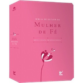 Biblia De Estudo Da Mulher De Fe Nvi - Cp Luxo Rosa
