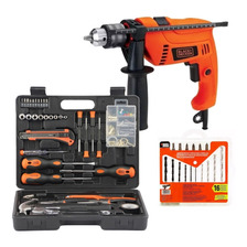 Set Herramientas, Rotomartillo 1/2 Brocas Hd500 Black+decker