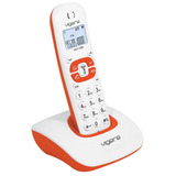 Telefone Sem Fio, Viva Voz, Dect 6.0 Vigere Branco E Laranja