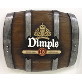 Barril Horizontal Em Fibra Decorativo - Dimple Whisky
