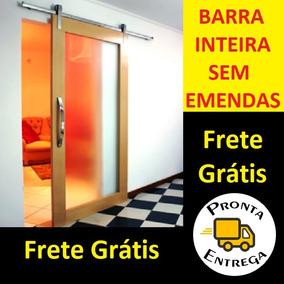 Kit Porta Correr De Roldana Aparente Soft Trilho 1,5 Metros
