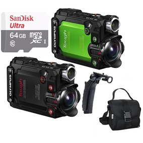 Câmera Ação Olympus Tg-tracker Stylos 4k +bastão+bolsa+64gb.
