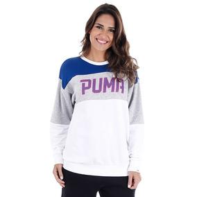 Moletom Puma Athletic Crew Weat W - Azul