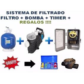 Paquete Kit Bomba 2.5 Hp + Filtro Arena 35 Piscinas Albercas