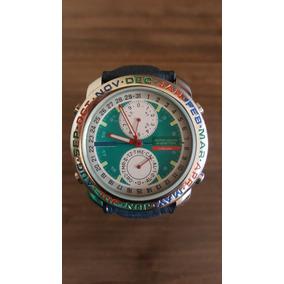 ad17247f4cc Benetton Bulova Alumínio Anos 80 Novo Sem Uso - Relógios no Mercado ...
