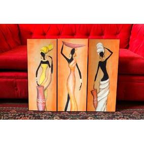 Cuadros Tripticos Figuras Mujeres Africanas Arte Y Deco