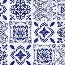 Papel Contact Azulejo Portugues Hidraulico Azul 45cm X 10m