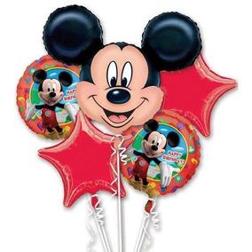 Mickey Mouse Partido Globos Feliz Cumpleaños Ramo