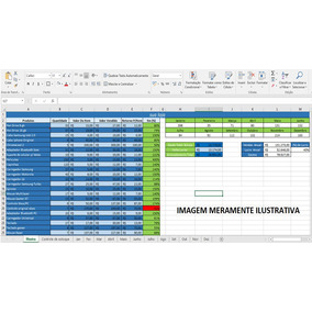 Planilha Excel Controle Vendas Estoque Lucro Gasto Automatic