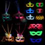 15 Antifaces Led Luminoso Fluo Combo Cotillon Mascara Fiesta