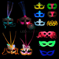 15 Antifaces Led Luminoso Fluo Combo Cotillon Mascara Fiesta