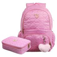 Kit Mochila Capricho Love Pink + Estojo Capricho Rosa 2020