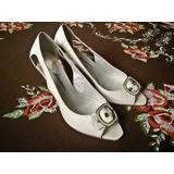 Sandália/sapato Peep Toe Branca - Marca Feminina