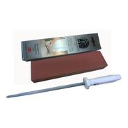 Kit De Afiar Canivete Da Roca Duo400 Pedra De Amolar Chaira