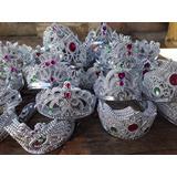 Coroa Princesa Imitação Pedras Colorida - Festa Carnaval