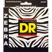 Encordado Dr Strings Zebra Zae-10 Electroacústica Cal 10 48