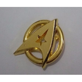 Broche Pin Star Trek Jornada Estrelas Comando Kirk Dourado