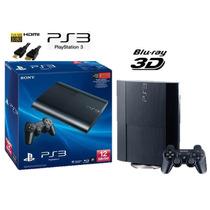 Playstation 3 Sony Ps3 12gb S.slim 3d C/1 Controle - Bivolt