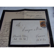 Antigua Año1911 Carta Con Sobre Y Timbre Postal