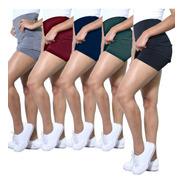 Kit 5 Shorts Saia Heide Ribeiro Leg Basic Academia