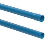 Cano 1.1/4 Pn 60 Azul Irrigação Tubo Pvc 40mm 6 Metro Fc2021