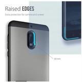 Nokia 6 Funda Tpu Gris Protección Extrema Doble Capa Unica