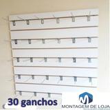 2 Painel Canaletado Branco Mdf 90cm Por 90cm Com 50 Ganchos