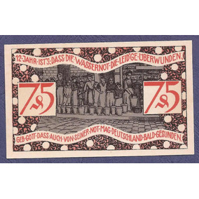 Alemania 1921 Billete Notgeld De Zeulenroda 75 Pf Nuevo