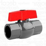 Llave Paso Válvula Esférica Agua Plastica 3/4 Riego X Goteo$