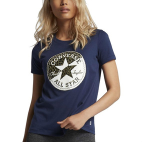 Remera Mujer Converse All Star Spliced Leopard Tee