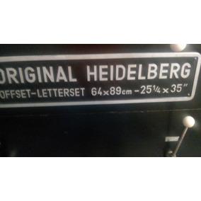 Maquina Para Imprenta Original Heidelberg Offset-letterset