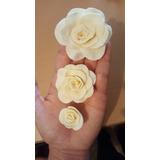 Flores Rosas De Fondant Pastillaje