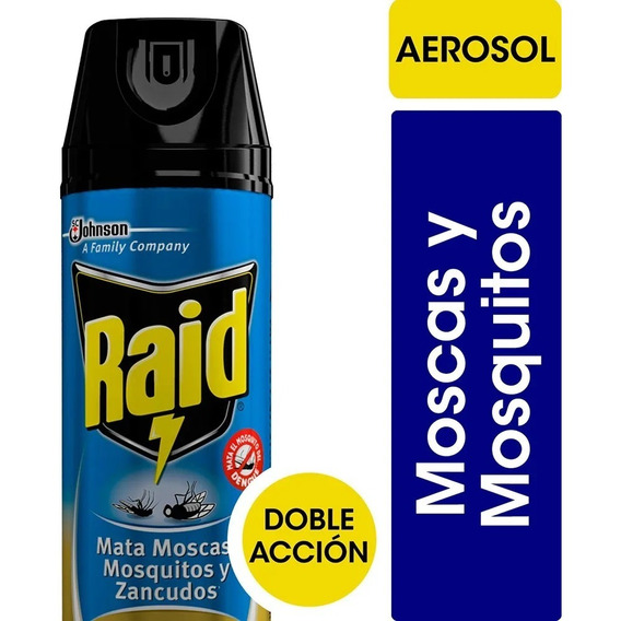 Insecticida Raid Doble Acción Mata Moscas Y Mosquitos 360cc