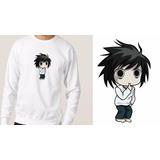 Blusa Moletom Casaco De Inverno Frio Death Note L Anime Mang