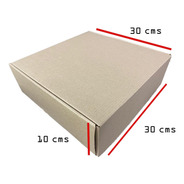 12 Piezas Caja Para Envíos 30x30x10 Cms Mailbox Cartón Kraft