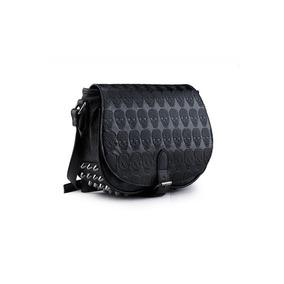 Bolsa Rock Caveira Saddle Gótica Sidebag Spikes - Ropapreta
