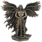 Ángel Guardián De Seis Alas Con Espada Y Serpiente Estatua