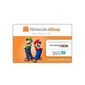 Nintendo E-shop Card 20 Dolares Para Nitendo 3ds