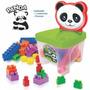 Brinquedos Educativos - Cadeira Panda Com Blocos De Montar