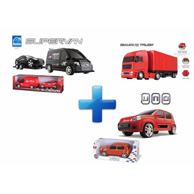 Kit Supervan Tunning Car + Truck Baú + Uno Attractive - Roma